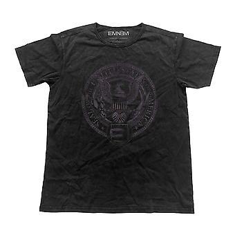 Eminem T Shirt Emerica Seal logo new Official Mens Vintage Finish Black