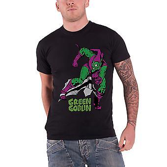 الأخضر عفريت تي قميص الأعجوبة كاريكاتير شعار موقف الرسمي ة الرجال الأسود