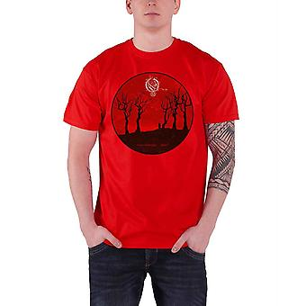 Opeth T Shirt Reaper Pale Communion Band Logo Official Mens New Red