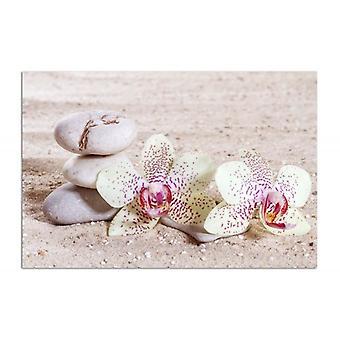 Deco Panel, Orchidee und Steine auf dem Sand 2