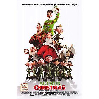 Arthur Weihnachten Poster doppelseitig regelmäßig (2011) Original Kino Poster