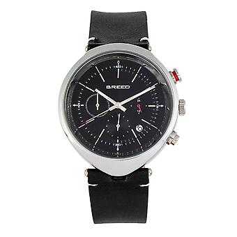 Breed Tempest Chronograph Leather-Band Watch w/Date - Black