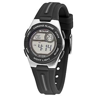 SINAR ifjúsági Watch Kids karóra digitális kvarc szilikon XE-58-1 Black Silver