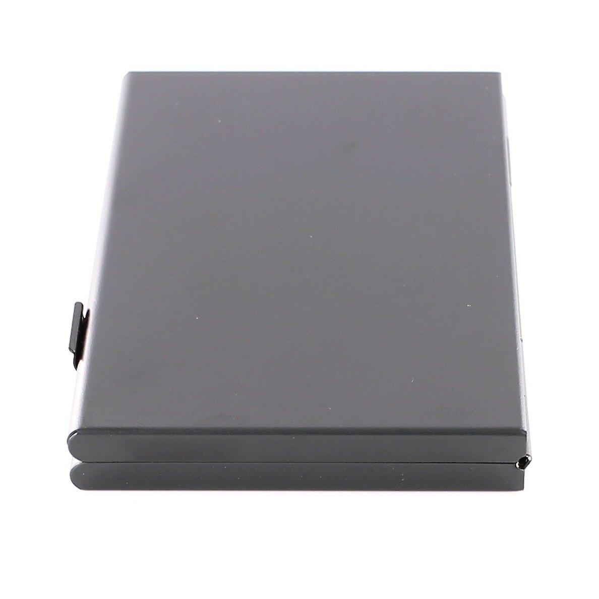 6 in 1 aluminium metal game card holder travel case storage wallet for sony ps vita - black