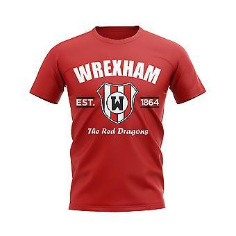 Wrexham etablerte fotball T-skjorte (Red)