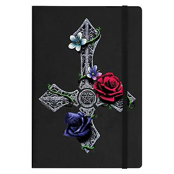 Requiem Collective Floral Cross A5 Hard Cover Notebook