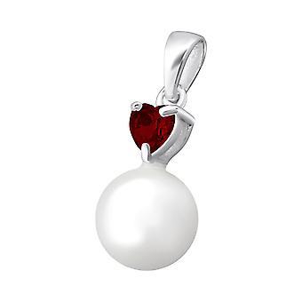 Heart - 925 Sterling Silver Jewelled Pendants - W34850X