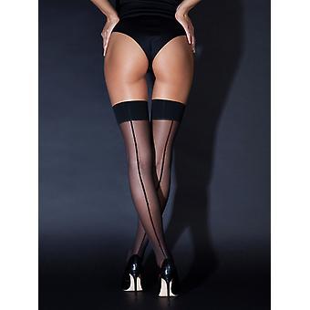 Klassische Black Seam Socken