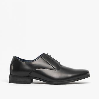 Route 21 Oswald Boys Smart Oxford Shoes Black