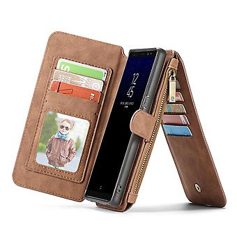 Case For Samsung Galaxy Note 8 Brown Multifunction Portfolio