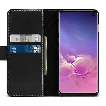 Case For Samsung Galaxy S10 Black Nappa Card Holder In True Leather