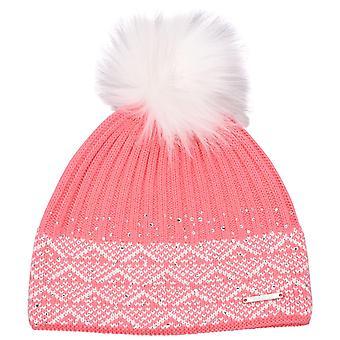 Nevica Womens Ladies Diamond Soft Warm Cosy Knit Snow Beanie Hat Winter Bobble