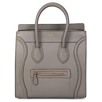Celine Mini Luggage Bag | Gray with Gold Hardware