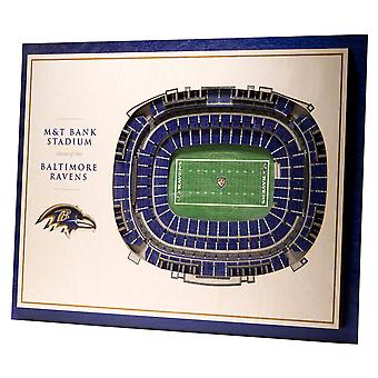 YouTheFan Wood Wall Decoration Stadium Baltimore Ravens 43x33cm