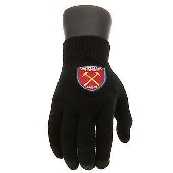West Ham United FC oficial Junior Guantes tejido