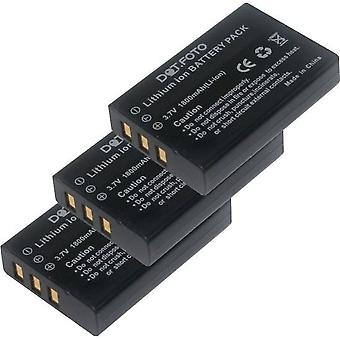 3 x Dot.Foto Speed NP-120 Replacement Battery - 3.7v / 1800mAh