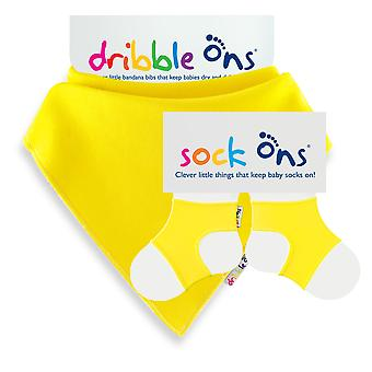 Pacchetto speciale Sock Ons & Dribble Ons - Yellow Dribble On con 6-12m Sockon