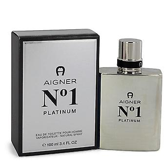 Aigner no. 1 platinum eau de toilette spray by etienne aigner 543606 100 ml