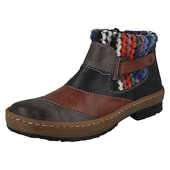 Senhoras Rieker tornozelo botas Z6782