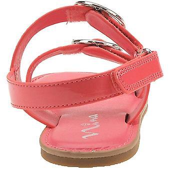 Nina Kids Brunny Girls' Toddler-Youth Sandal 2 M US Little Kid Coral-Patent
