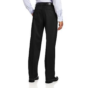 Dockers Men's Classic Fit Iron-Free Khaki Pant D3 Flat Front Stretch, Black M...