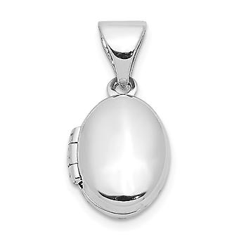 925 Sterling Silver Graverbart Spädbarn 12mm Oval Foto Locket Hänge Halsband Smycken Gåvor för Kvinnor
