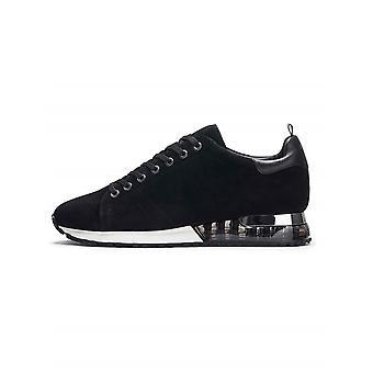Mallet Mallet Black Tech Racer Suede Sneaker
