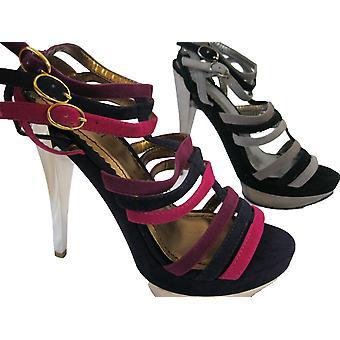Rascal Faux Suede The Edge Cutaway Platform Sandals