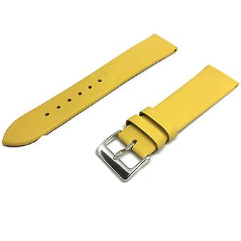 ربلة الساق الجلود ووتش حزام أصفر إضافي طويل مشبك الكروم 12mm إلى 30mm