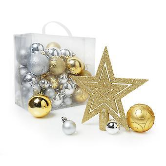 Tienda de Navidad surtidos Pack de decoración de árbol de Navidad de 50 piezas