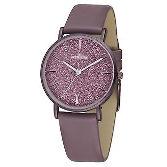 ATRIUM Women's Watch Wristwatch A35-28 Old Pink Glitter Dial