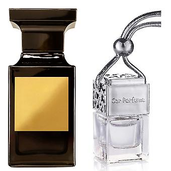 Tom Ford Tuscan Leather For Him Inspired Fragrance 8ml Chrome Lid Bottle Hanging Car Vehicle Auto Air Freshener