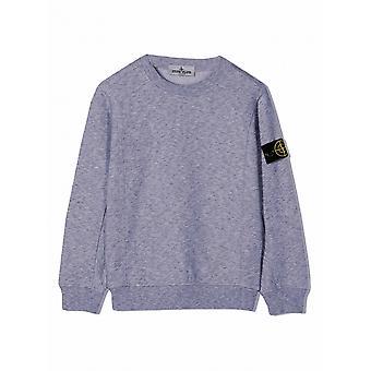 Stone Island Junior Stone Island Junior Navy Melange Sweatshirt