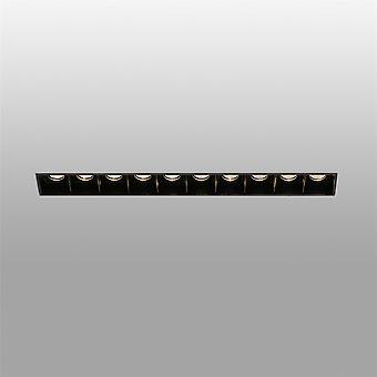 Faro Tropp - LED Svart innfelt Downlight Trimless 10x 2W 3000K - FARO43707