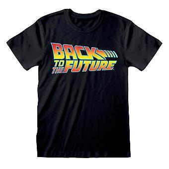 Men's Back to the Future Vintage Logo Black T-Shirt - Retro Tee