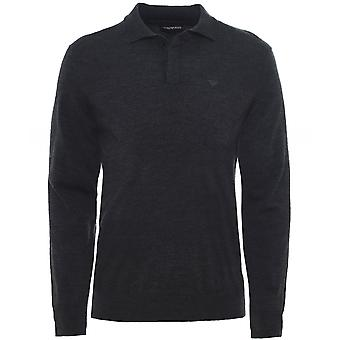 Armani Virgin Wool Long Sleeve Polo Shirt