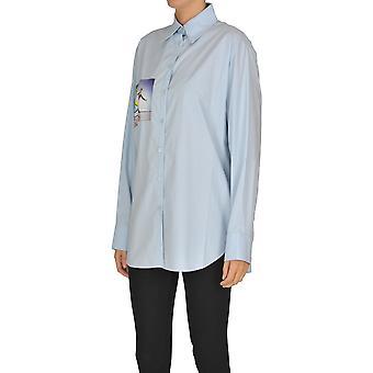 Acne Studios Ezgl151041 Donna's Camicia di cotone blu chiaro