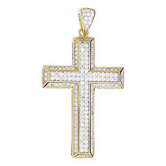 Premium Bling - Croce ciondolo-oro argento sterling 925