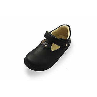 Bobux i-walk & kid+ black louise t-bar school shoes