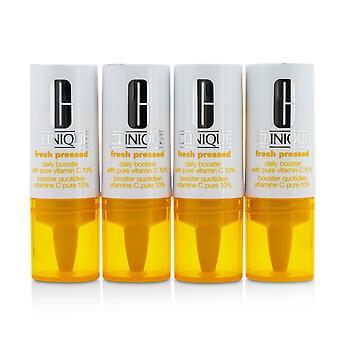 Vers geperste dagelijkse booster met pure vitamine C 10% alle huidtypes 218040 4x8.5ml/0.29oz