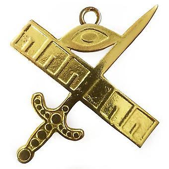 Bijou de collier d'or maçonnique - expert