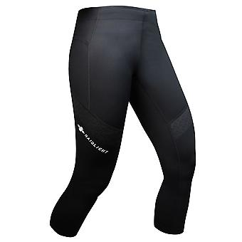 Raidlight 3/4 Trail Raider Womens Breathable Cropped Running Tights Black
