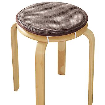 Wicker mat sponge round fixed seat cushion