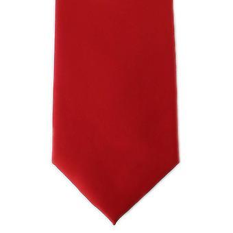 Michelsons London Plain Ployester Krawatte - Scharlachrot