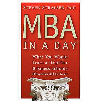 MBA In A Day - What You Would Learn At Top-Tier Business Schools (If Y