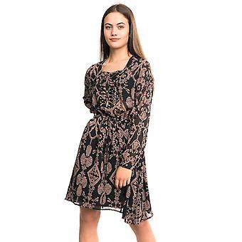 Maison Scotch Maison Scotch impreso encaje pura gran tamaño Vestido de mujer