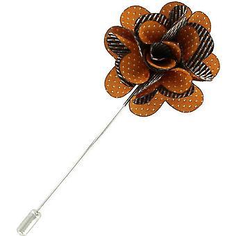 Michelsons Lontoo Pin dot kukka rintaneulan - oranssi