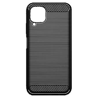 Hull For Huawei P40 Lite Black Soft Carbon Effect