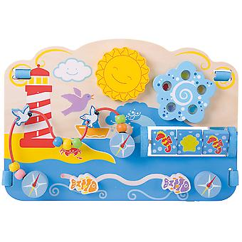 Bigjigs Toys Wooden Marine Activity Centre Cot Bed Nursery Development Toys