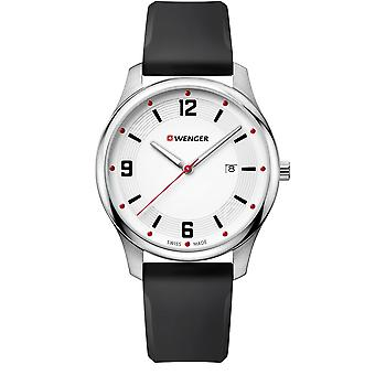 Wenger City Active White Dial Black Silicone Strap Men's Watch 01.1441.108 RRP £89